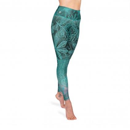 l1001h niyama yoga leggings enchanted forrest high waist frontal petrol