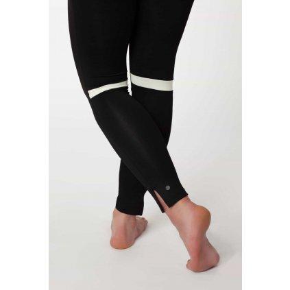 YOjogaYO Legíny s rozparkom a krémovou vsadkou pod kolenom