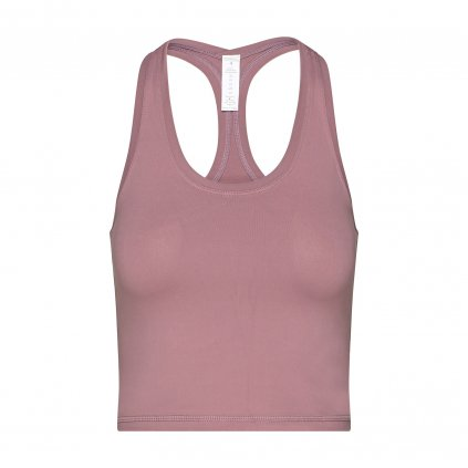 nt025bxs tanktop niyama essentials wmn cropped tank racerback dusty pink front