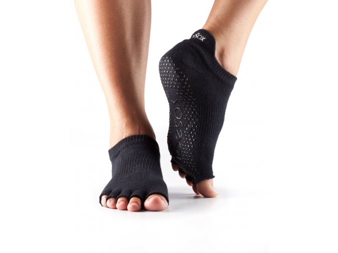 halftoe low rise black protiymskove ponozky