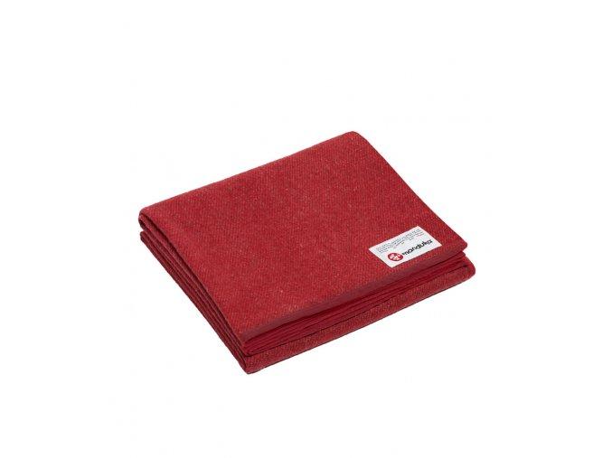 Manduka recyklovaná deka z vlny Fortitude (červená)