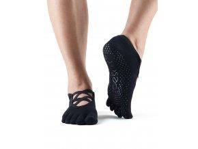 Objedajte si Toesox Fulltoe Elle protišmykové ponožky (čierna) za 14,99 Dovoz od 75 EUR zdarma, doručenie do 2 dní, 98% spokojnosť, 100 dní na vrátenie.  1