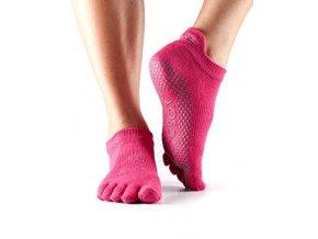 low rise grip fuchsia ponozky