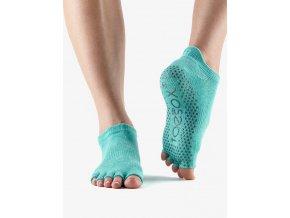socks grip lowrise ht aqua 2 toesox prstove