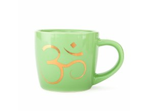 zeleny joga hrncek om513og yoga bodhi yogimug green om keramiktasse golddruck 320ml linke seite