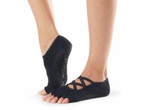 half toe elle grip socks black