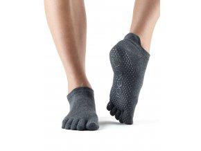 Socks Grip LowRise FT Charcoal