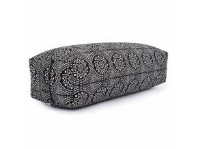 986ms yoga maharaja collection salamba bolster gemustert 64 x 25 x 17 cm bandhani schwarz