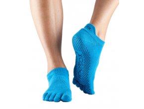 ToeSox Fulltoe Low Rise protišmykové ponožky Skydiver (modrá)