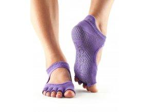 Toesox Halftoe Bella Grip protišmykové ponožky (Light Purple)