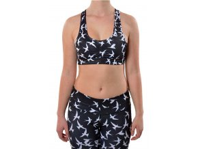 Saprema Hot Yoga Top Podprsenka (Black/White)