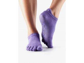 ToeSox Fulltoe Low Rise protišmkové ponožky (light purple)
