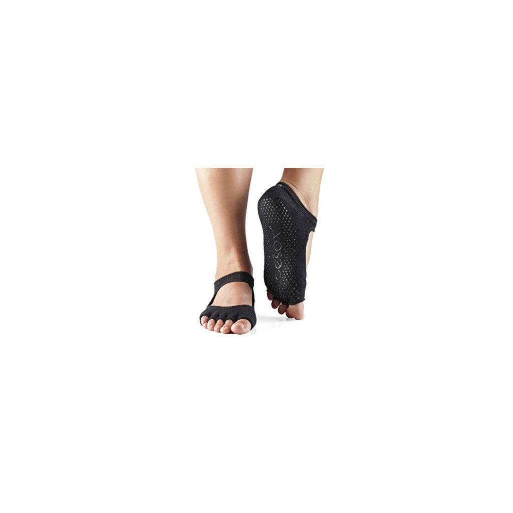 Toesox Halftoe Bella Grip anti-slip socks (black)11503/XS2