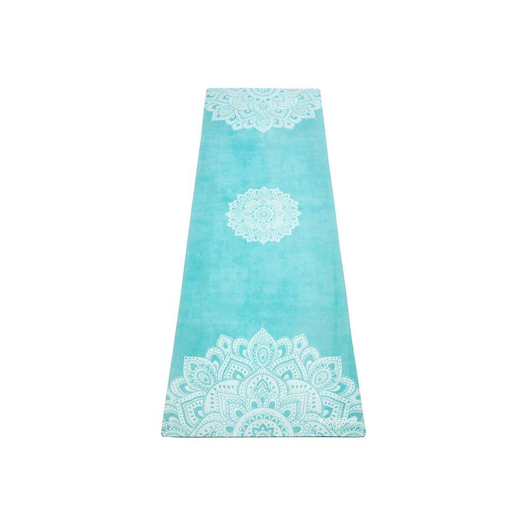 Yoga Design Lab Commuter Check Mandala Turquoise yoga mat 1.5 mm11593
