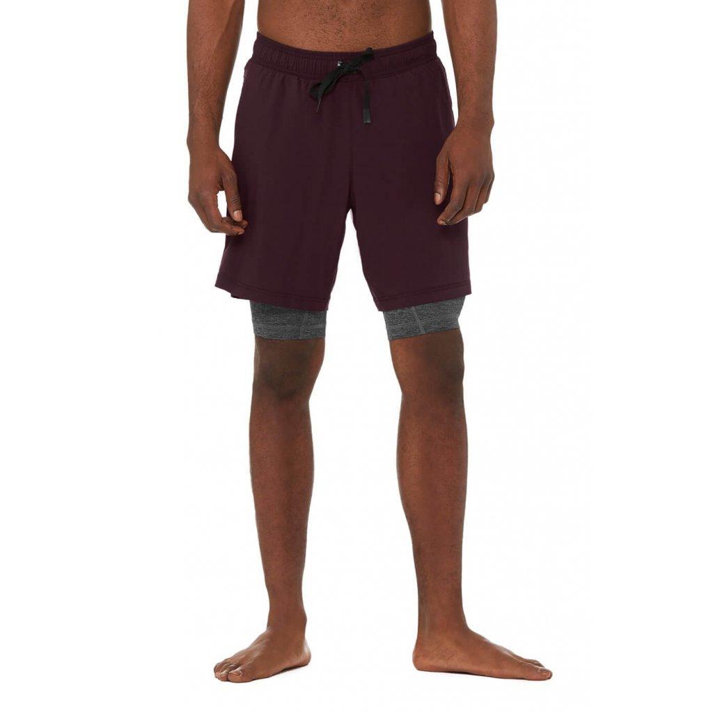 Alo unit 2-in-1 Short shorts bordeaux12278/M