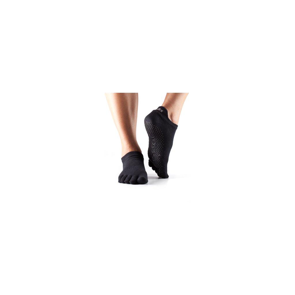 ToeSox Fulltone Low Rise slip socks (black)1249/S2