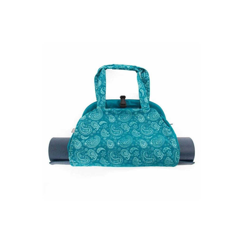Bag Yoga Bodhi Maharaj Namasté cotton Paisley (petrol)198/S89P