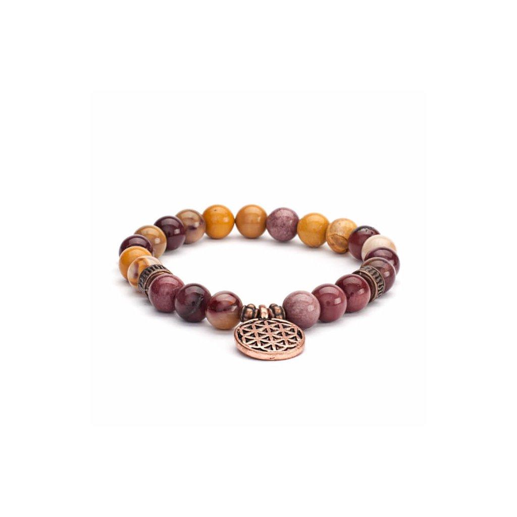 Bodhi Mala Bracelet with yellow stone12828