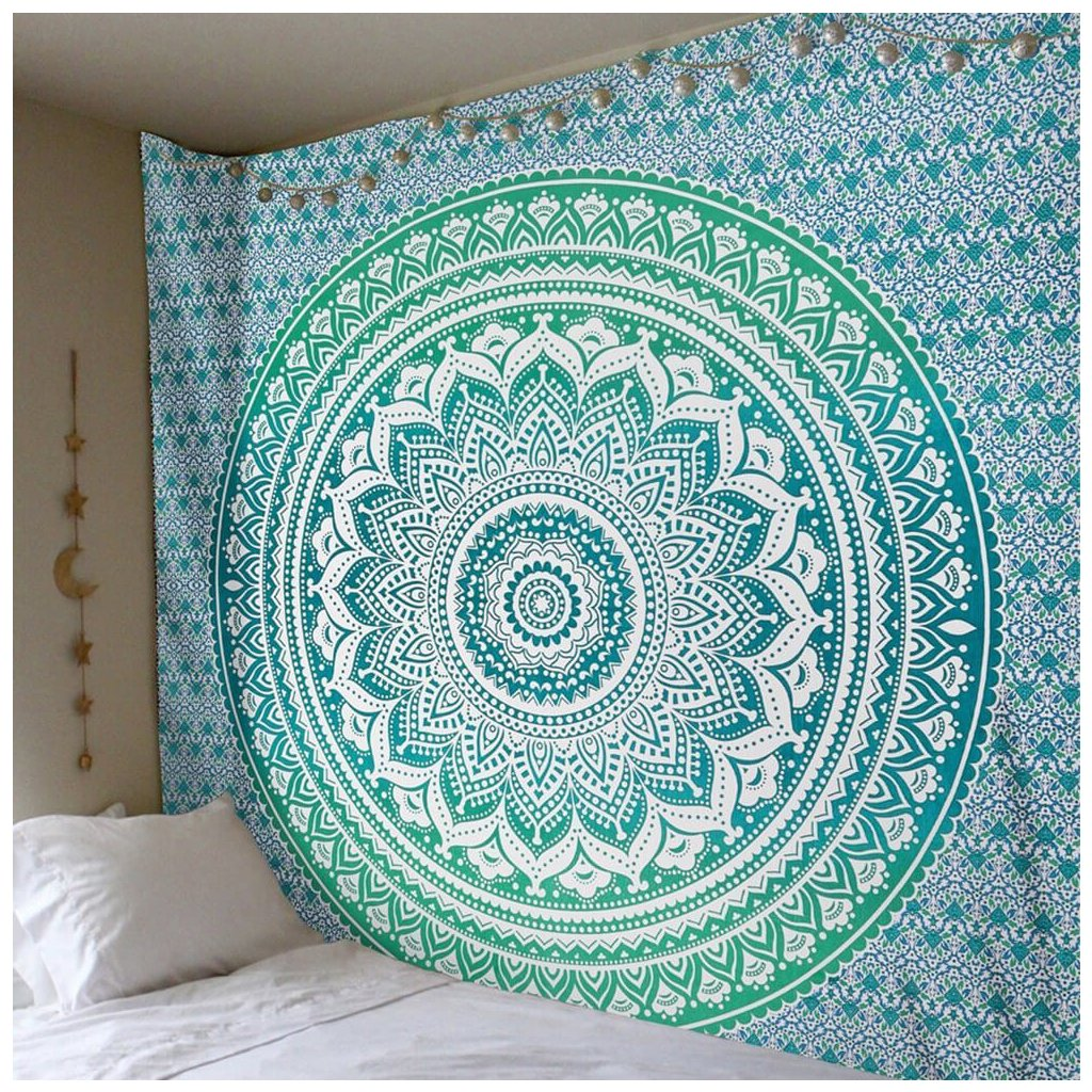 Wall Indian Mandala green sheet13257/S