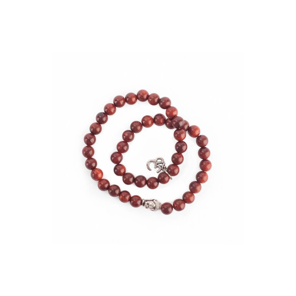 Bodhi Great little wooden bracelet with charms OM and Buddha14055/M