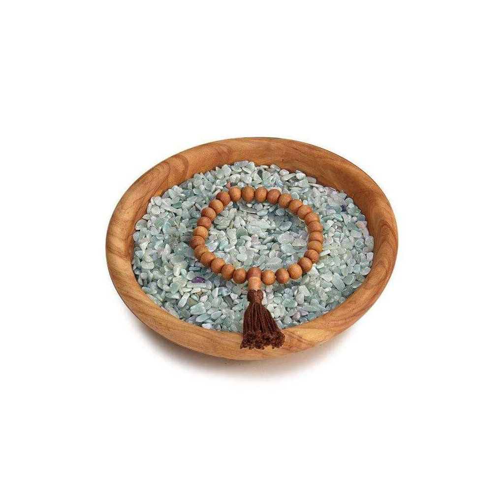 Bodhi Mala bracelet with scent of sandalwood with brown tassel198/S205