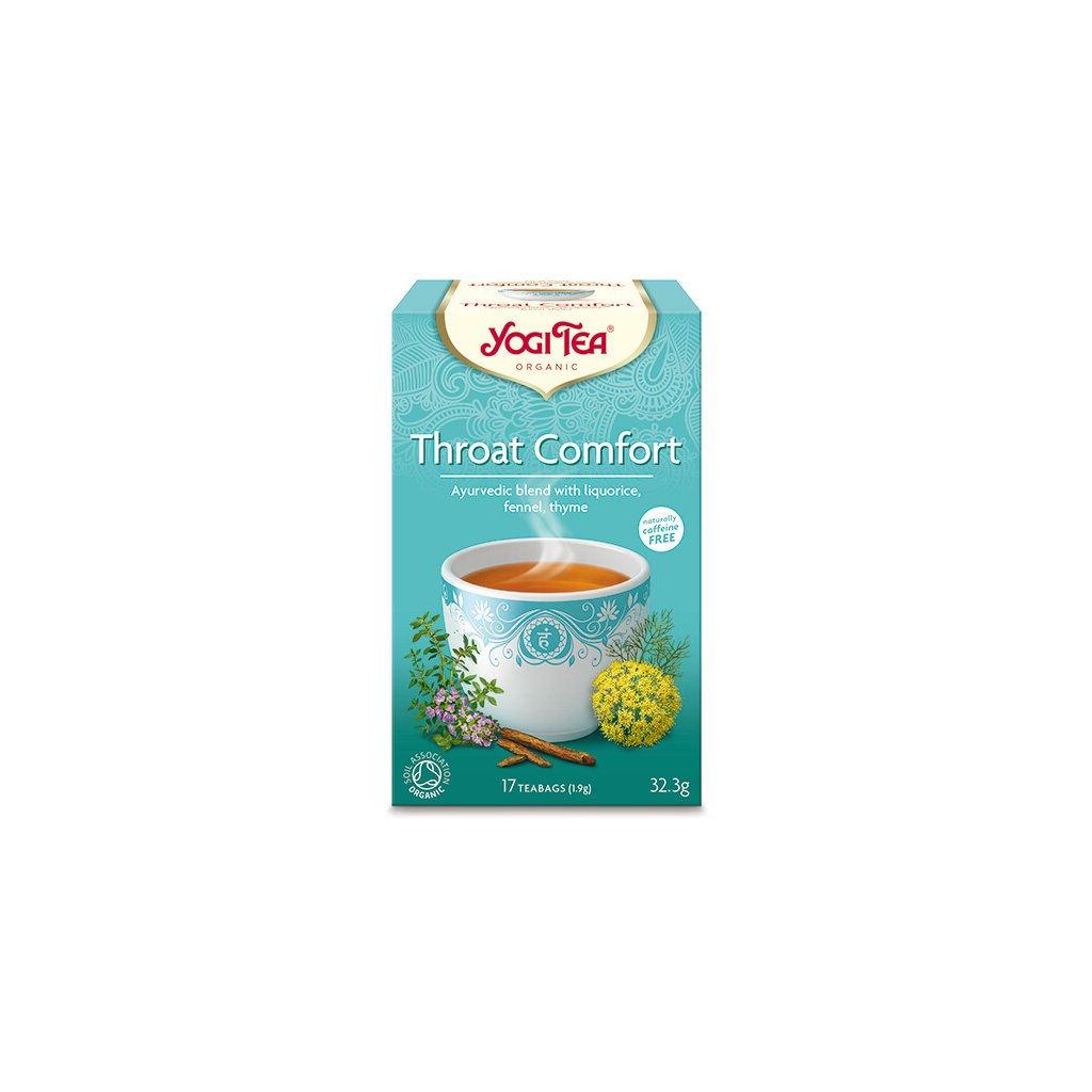 Yogi Tea Throat Comfort (neck relief) - Ayurvedic herbal tea Organic Portion 17 x 1.95 g198/S212