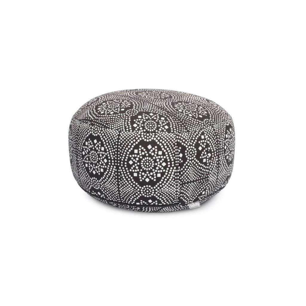 Bodhi Maharaj Rondo meditation cushion Bandhani (black and white)14157/PAL