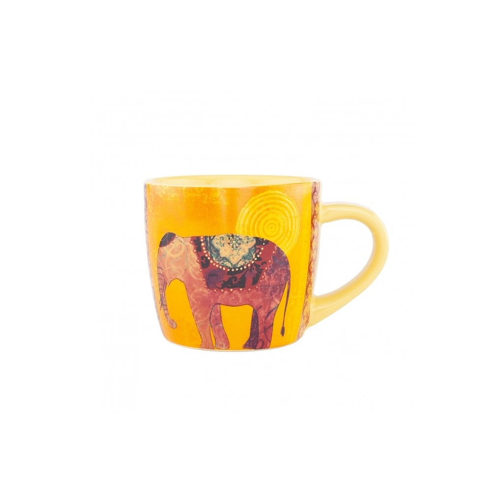 Bodhi Yogi Mug ceramic cup 300 ml ELEPHANT (yellow)198/S229