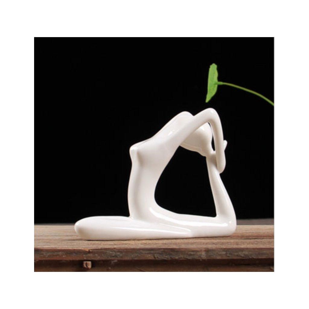 Ermakova porcelain ceramic figurine yoga Eka Pada Raja198/S231