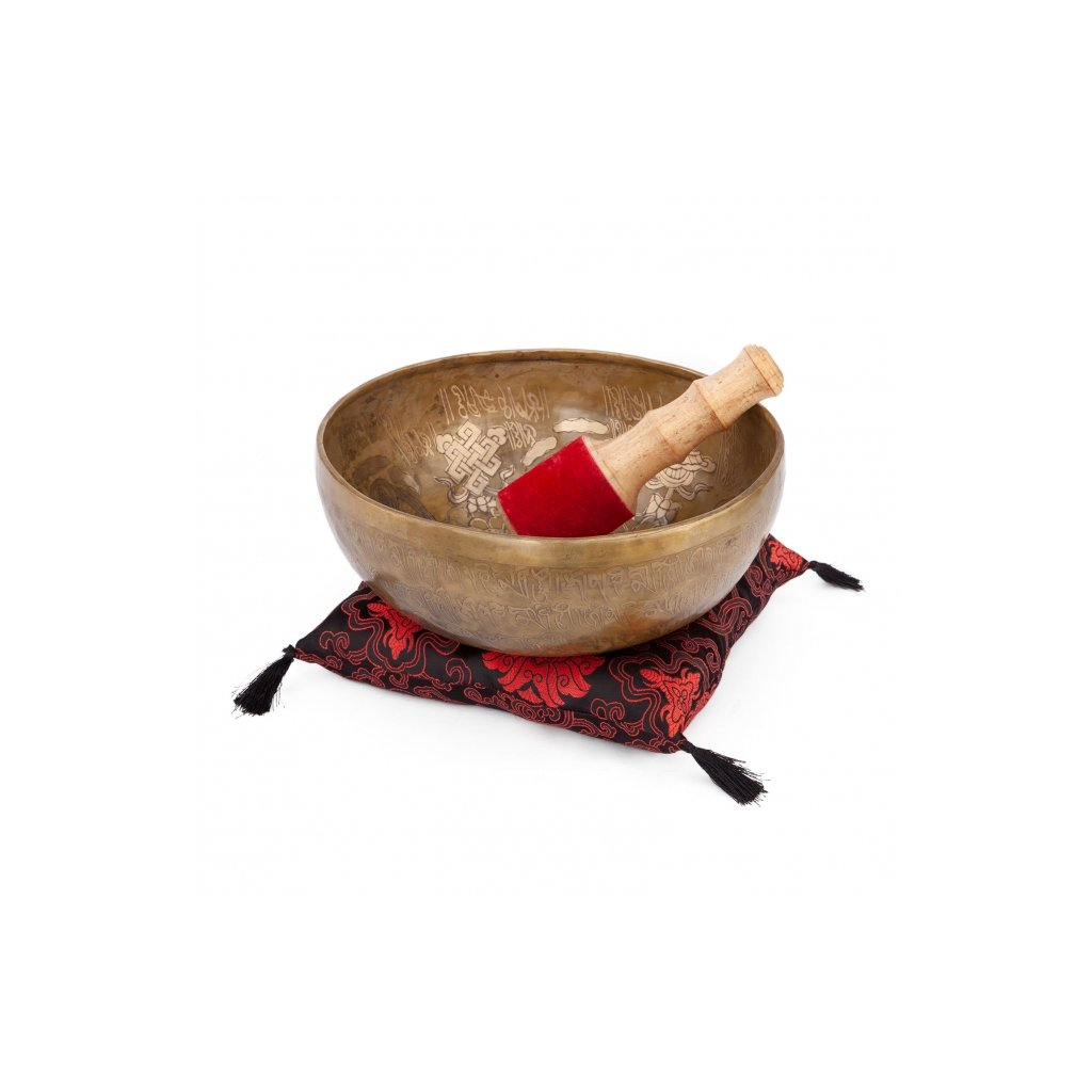 Handicrafts Tibetan singing bowl 28 cm - 5 Buddha198/S303