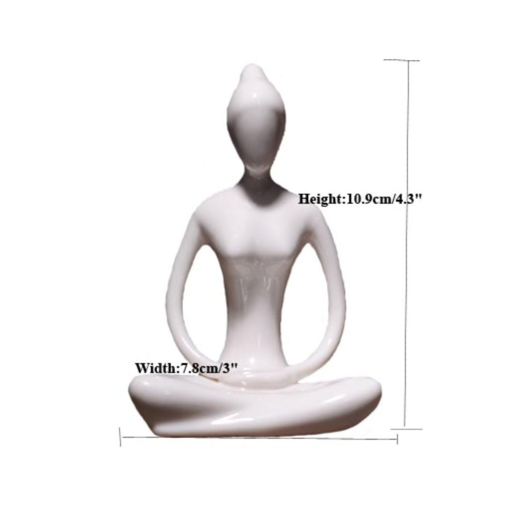 Ermakova porcelain ceramic figurine yoga meditation198/S344