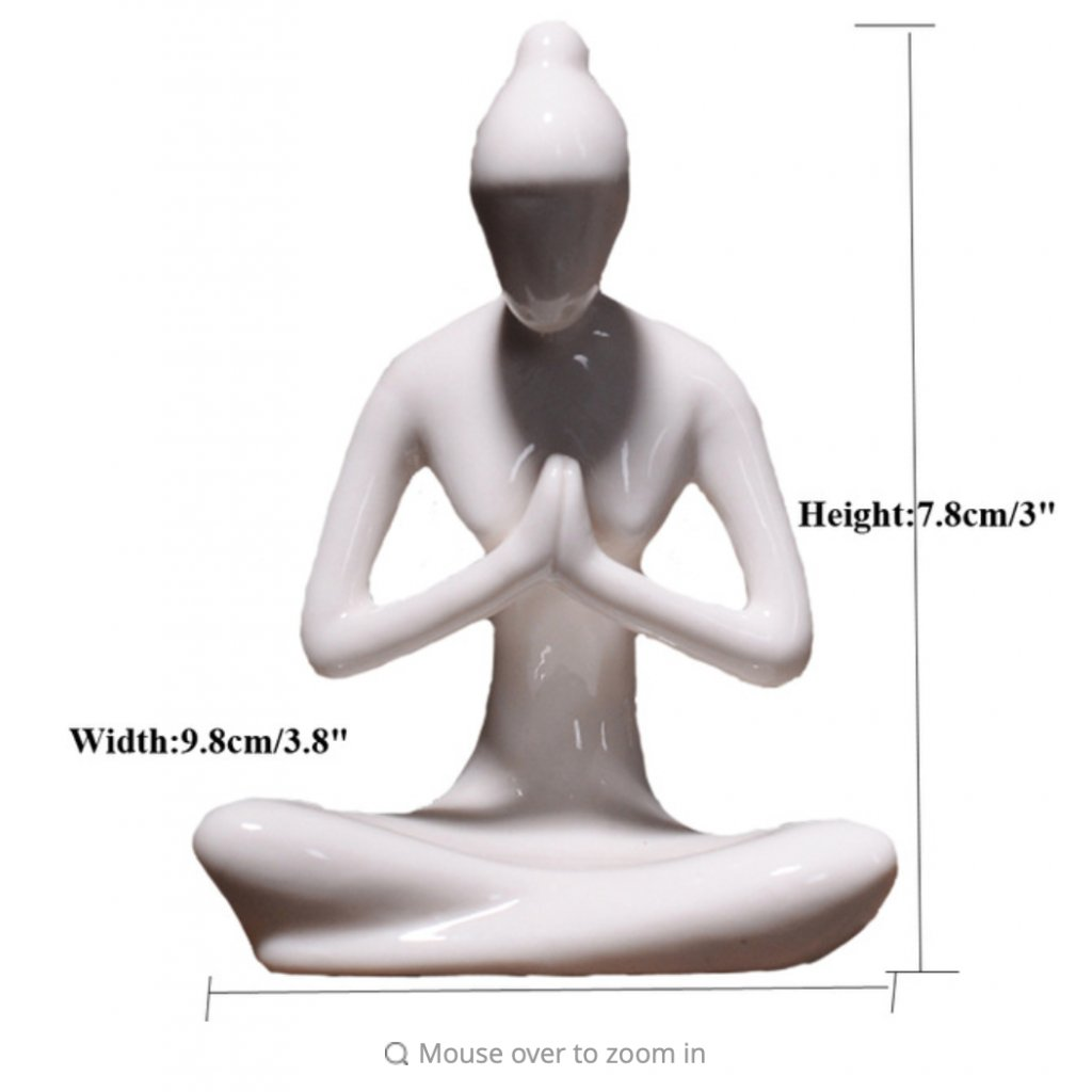 Ermakova porcelain, ceramic yoga figurine Namasté198/S345