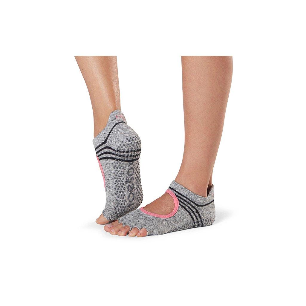 Toesox Halftoe Bellarina Grip anti-slip socks (Aerobics)15780/S