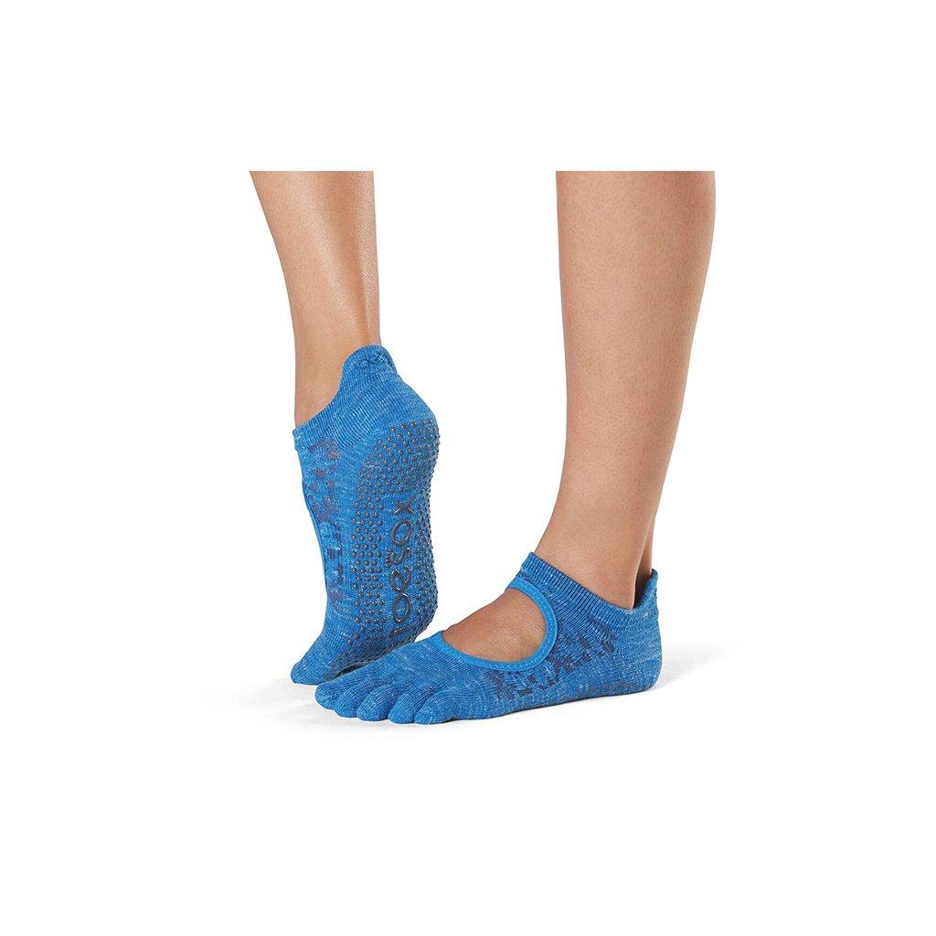 Toesox Fulltone Bellarina Grip anti-slip socks (Lapis)15789/S