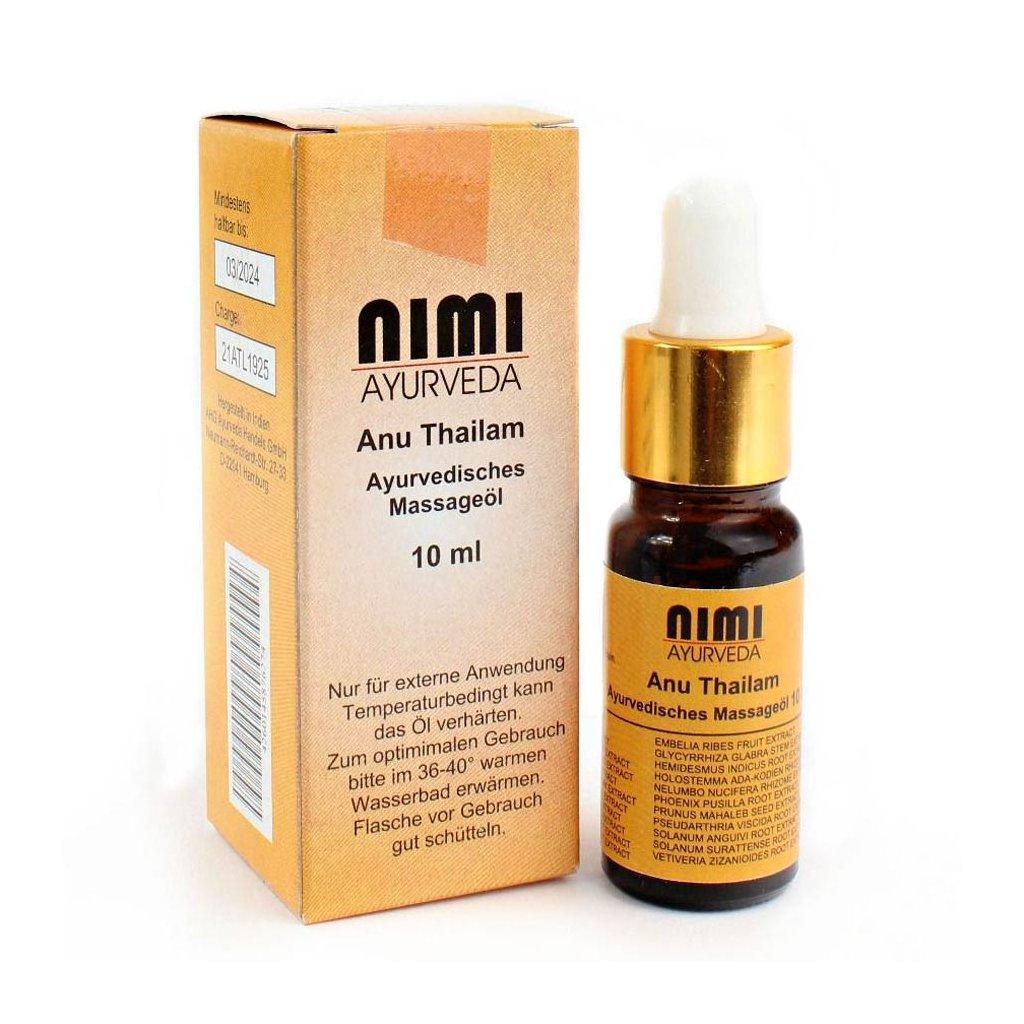 Sree Sankara Anu Thailam Ayurvedic oil 10 ml.