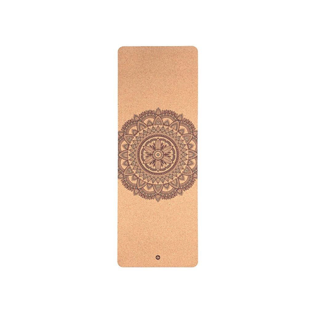 Bodhi Phoenix Yoga mat Cork Bicolour MANDALA 185 x 66 cm
