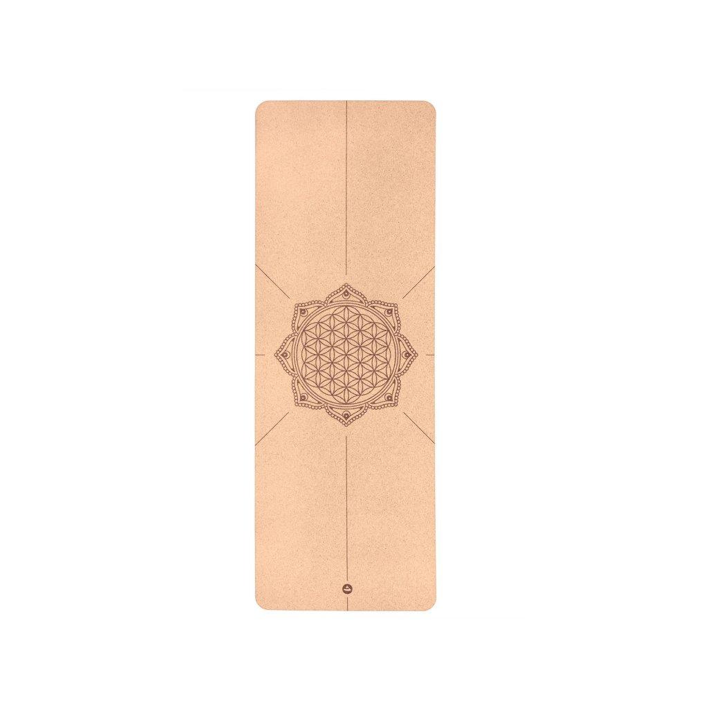 Bodhi Phoenix Yoga mat Cork FLOWER OF LIFE 185 x 66 cm x 4mm