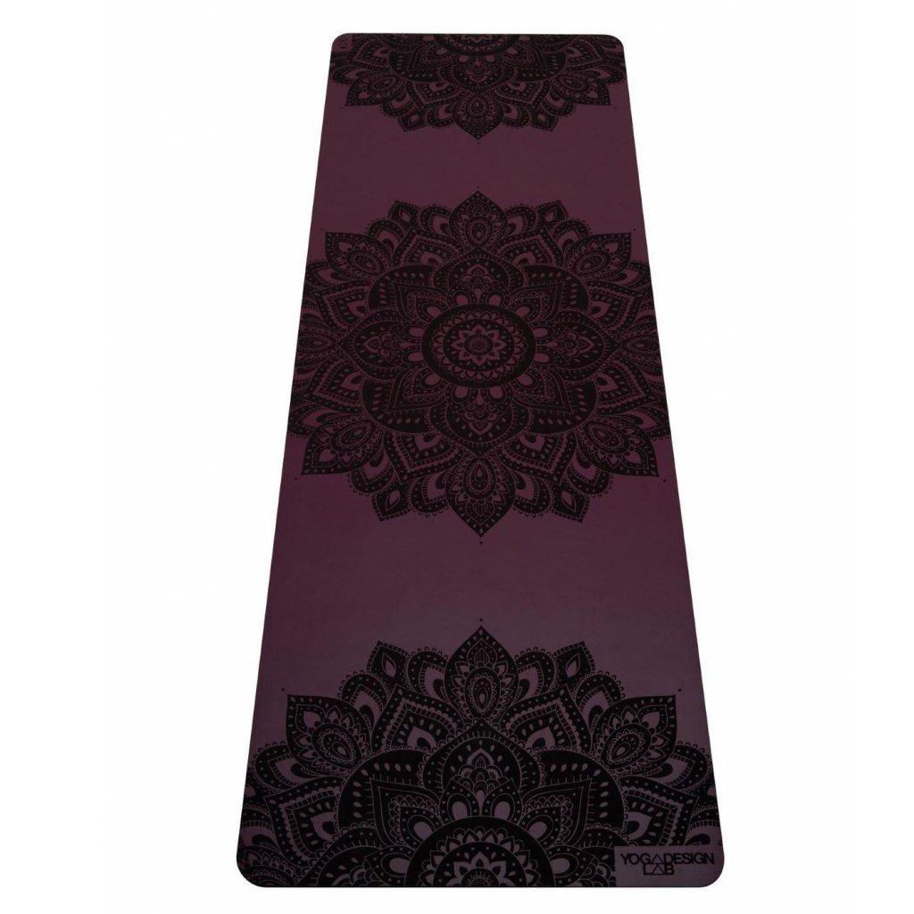 9032350mm infinity yoga mat mandala burgundy 8362