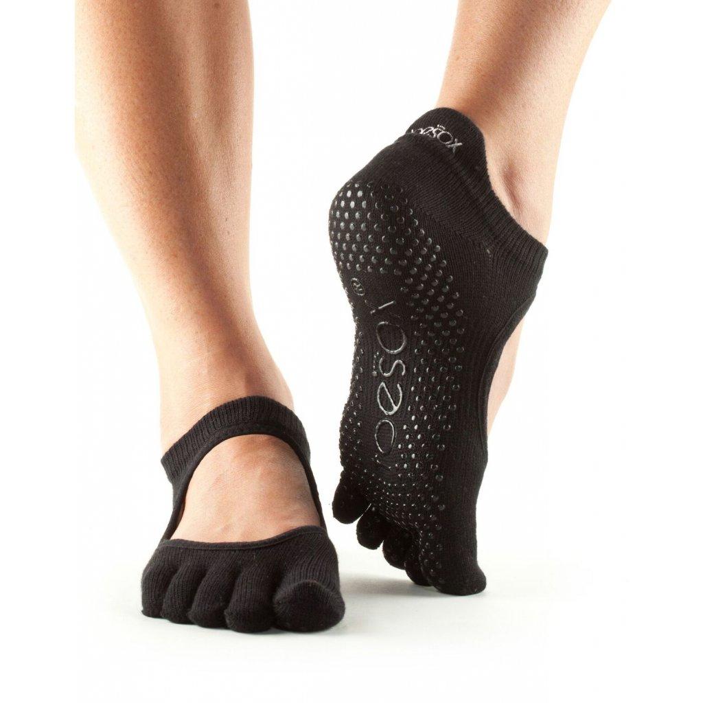 Toesox Fulltone Bellarina Grip anti-slip socks (black)1765/XS