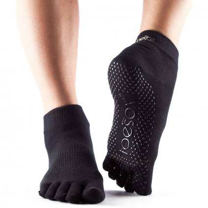 ToeSox Fulltone Ankle grip non-slip socks (black)11116/S