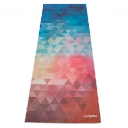 Yoga Mat Towel Design Lab Love Tribeca towel on the mat 183 x 61 cm11236