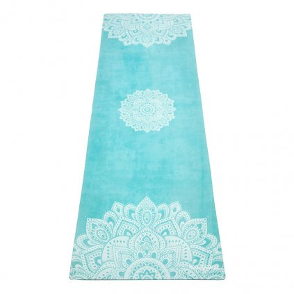 Yoga Design Lab Commuter Check Mandala Turquoise yoga mat 1.5 mm11593