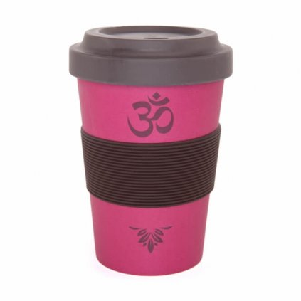 Bodhi Yogi Cup 2 Go OM Berry bamboo cup 480 ml198/S25