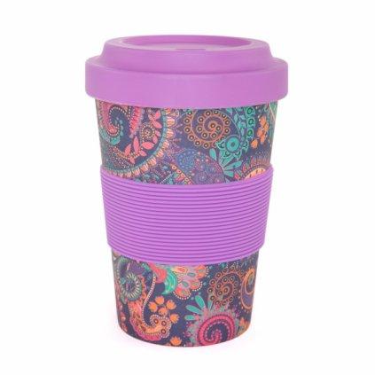 Bodhi Yogi Cup 2 Go Paisley purple bamboo cup 480 ml198/S40
