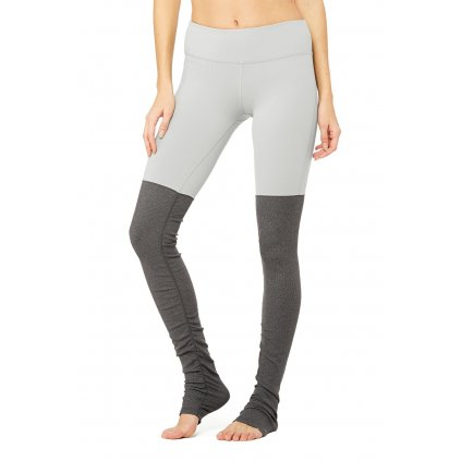Alo Goddess Legging Alloy / Stormy Heather gray / beige12507/XS