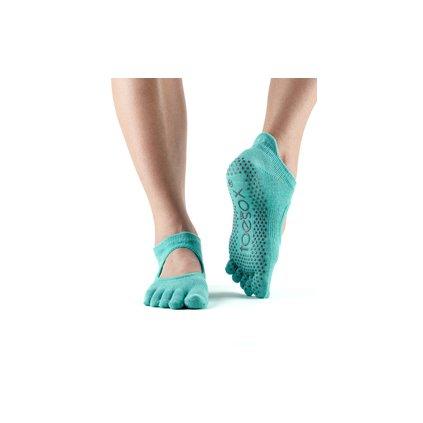 Toesox Fulltone Bellarina Grip anti-slip socks Aqua12867/S