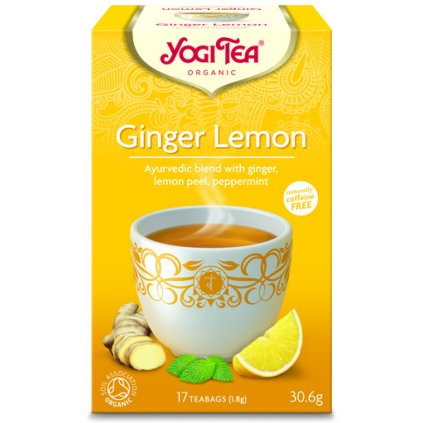 Yogi Tea Lemon Ginger (ginger-lemon) Ayurvedic an herbal-fruit tea 17 x 1.8 g198/S139