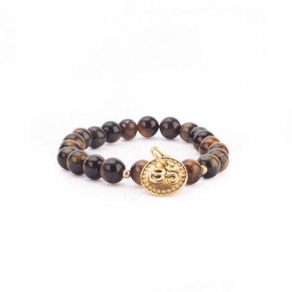 Bodhi Mala Bracelet Tiger Eye Pendant OM198/S203
