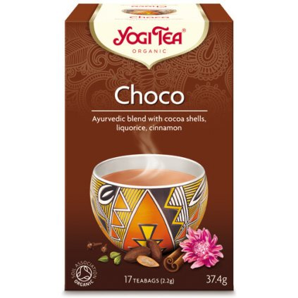Yogi Tea Choco (Chocolate) - Ayurvedic herbal tea Organic Portion 17 x 2.2 g198/S209