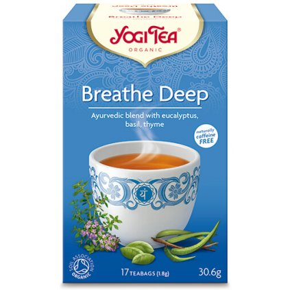 Yogi Tea Breathe Deep (bronchial) - Ayurvedic Herbal Tea Organic Portion 17 × 1.8 g198/S210